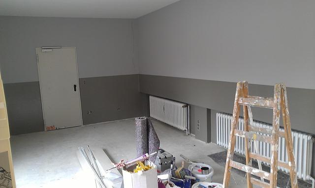 woonkamer verbouwen bouwafval